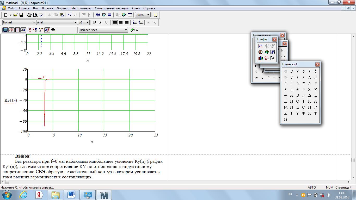 Оценка усиления гармоник в системе внешнего электроснабжения
