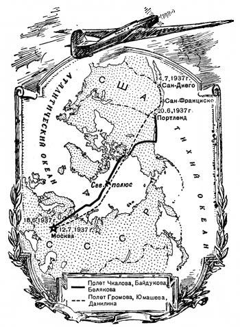 Полеты через северный полюс. полет м. м. громова
